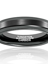 Ring Fashion / Vintage Wedding / Party / Daily / Casual Jewelry Tungsten Steel Men Band Rings 1pc,7 / 8 / 9 / 10 / 11 / 12 / 13 Black