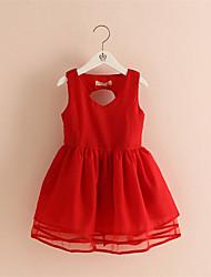 BK   2016 New Stylish Kids Toddler Girls Princess Dress Sleeveless Ruffle Dress 2 Colors Top Quality