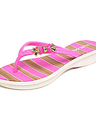 Women's Summer Slippers PVC Casual Wedge Heel Slip-on Blue / Pink / Purple / Coral
