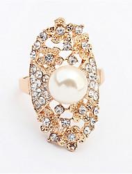 Ringe Damen / Paar Künstliche Perle / Strass Legierung Legierung 10 Gold