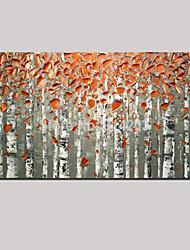 pinturas a óleo estilo europeu pintadas à mão da arte da parede paisagem dourada do outono com esticada emoldurado