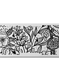 bluezoo retângulo arte impressão prego stamping (c-036)