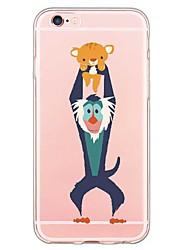 Pour iPhone X iPhone 8 Coque iPhone 5 Etuis coque Ultrafine Transparente Motif Coque Arrière Coque Bande dessinée Flexible PUT pour Apple