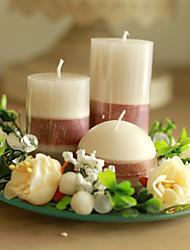 Kerzen(Weiß,Kristall) -Schmetterling Thema