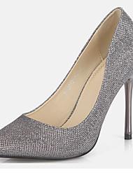 Women's Shoes Glitter Stiletto Heel Heels Heels Wedding / Office & Career / Party & Evening / Dress / Casual Silver