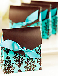12 Piece/Set Favor Holder - Brown and Turquoise Tapestry Favor Boxes BETER-TH013