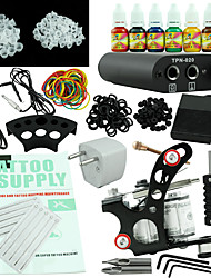 Beginner Tattoo Kit  Power Supply 7 Ink Set One Machine Equipment