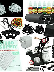 alimentation 7 jeu d'encres équipement d'une machine de kit de tatouage débutant