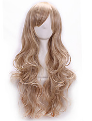 Top Quality Harajuku Curl Cosplay Synthetic Young Long Pad For Hair Wigs Stylish Lady Hairpiece