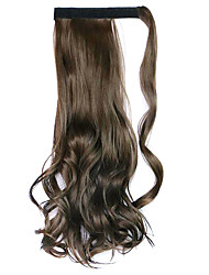 Wig Black Chocolate 45CM Synthetic High Temperature Wire Curly Horsetail Color 8A