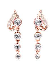Boucles d'oreille goujon Boucles d'oreille goutte Cristal Cristal Plaqué or Blanc Rouge Rose Rouge Bleu Arc-en-ciel BijouxMariage Soirée