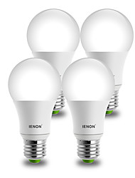E26/E27 Lampadine globo LED A60(A19) 1 COB 850-900 lm Bianco caldo Luce fredda Decorativo AC 100-240 V 4 pezzi