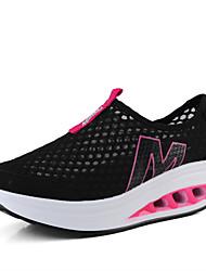 Scarpe Donna-Sneakers alla moda-Tempo libero / Casual / Sportivo-Comoda-Piatto-Tulle-Nero / Blu / Viola / Grigio / Fucsia