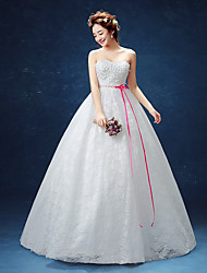 Ball Gown Wedding Dress Floor-length Sweetheart Lace / Satin / Tulle with Appliques
