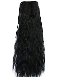Black Deep Wave Lace Wig Corn Hot Ponytails