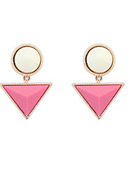 Europe And America New Fashion Punk Triangle Round Earrings