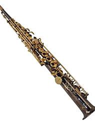 высокий и прямой черный никель сопрано саксофона