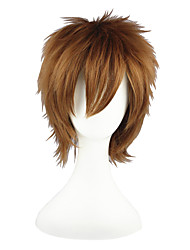 Cosplay Wigs Naruto Gaara Brown Short Anime Cosplay Wigs 30 CM Heat Resistant Fiber Male / Female