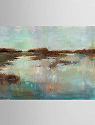 Hand Painted Oil Painting Landscape Abstract Waters with Stretched Frame 7 Wall Arts®