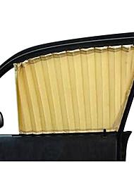 2pcs schwarzes Auto-Fenstervorhang Sonnenschirm flach Webart UV-Schutz-Kleidung