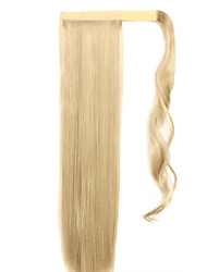 Yellow Straight Mixing Straight Hair Wig Ponytails 16/613