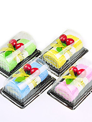 1Pcs Swiss Roll Cake-shaped Cleaning Cloth Fake Dessert Decoration Wedding Favors (Random Color)