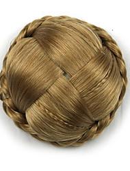 Kinky ouro encaracolado grande tecer chignons cabelo humano sem tampa perucas 1011