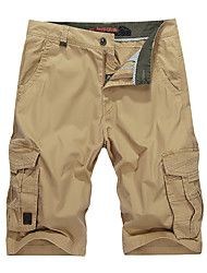 Men's Shorts,Casual / Work / Sport Solid Cotton