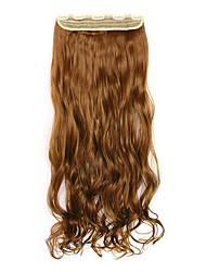 marron Longeur 70cm europe et les etats-unis style chaud cinq clip clip cheveux cheveux bouclés (couleur 27)