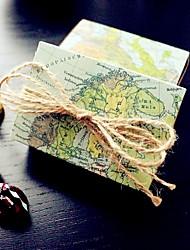 12 Stück / Set Geschenke Halter-Quader Kartonpapier Geschenkboxen Geschenktaschen Geschenk Schachteln Plätzchen BeutelNicht