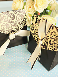 Black And White Wedding Favor Boxes (12pcs/bag)