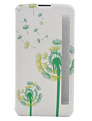 For LG Case with Stand / with Windows / Flip / Pattern Case Full Body Case Dandelion Hard PU Leather LG