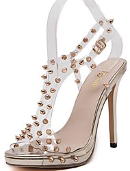 Women's Summer Heels / Open Toe Synthetic Dress Stiletto Heel Nude