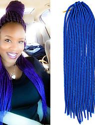 20-Zoll-weiche Dreadlock häkeln Geflecht havanna mambo Twist Haarverlängerung 4 reine Farbe mit Häkelarbeithaken