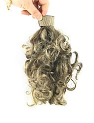 longueur cyan étouffant perruque 28cm synthétique bouclés fil à haute température bobine contracter couleur queue de cheval pelucheux 2004