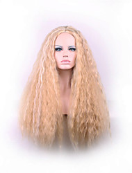 Europe And The United States The New Brown Iron Corn Long Curly Wig 24 inch Polyester Dyed Hair Wigs