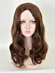 Capless Long High Quality Synthetic Body Wave Brown Synthetic Wigs