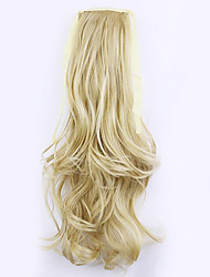 Golden Length 50CM Factory Direct Sale Bind Type Curl Horsetail Hair Ponytail(Color 25/613)