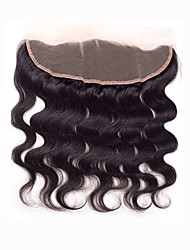 8 10 12 14 16 18 20inch Natural Black Lace Front / Hand Tied Body Wave Human Hair Closure Medium Brown Swiss Lace 60 gram Cap Size