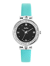 Женские Модные часы Кварцевый Кожа Группа Синий / Зеленый / Фиолетовый марка