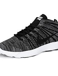 Nike Flyknit High Men's Sneaker Shoes Fabric Black / Purple / Gray