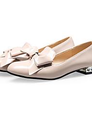 Черный / Красный / Миндальный-Женская обувь-На каждый день / Для вечеринки / ужина / Для праздника-Лакированная кожа-На плоской подошве-С