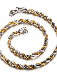 Men's Women's Chain Necklaces Stainless Steel 18K gold Fashion Jewelry For Daily Casual