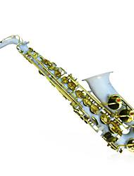 HYS - h885 queda e saxofone alto duto ligado a ouro branco saxofone alto