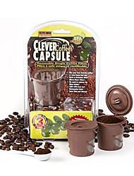 3шт / комплект кофе в 2016 году капсула чайника штук умна кофе капсулы многократного использования одного фильтра корзины