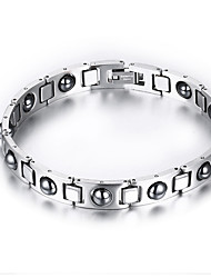 Bracelet Jewelry Health Care Silver Stainless Steel Magnetic Therapy Bracelet Chain Bracelet Gift for Men/Women