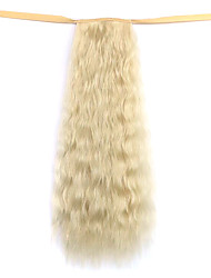 Wig White Gold 50CM Water Synthetic High Temperature Wire Hot Corn Horsetail Color 613