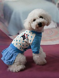 Lovely Dots Printing Jeans Pet Dress