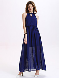 Women's Chiffon Full-Skirted Dress Maxi Dresses