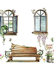 Животные / ботанический / Натюрморт / Зеркала / Мода / Цветы / Пейзаж / Отдых Наклейки Простые наклейки,PVC 90*60*0.1